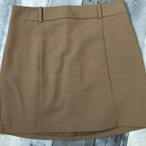 Express Tan Mini Skirt with Belt Loops - 322